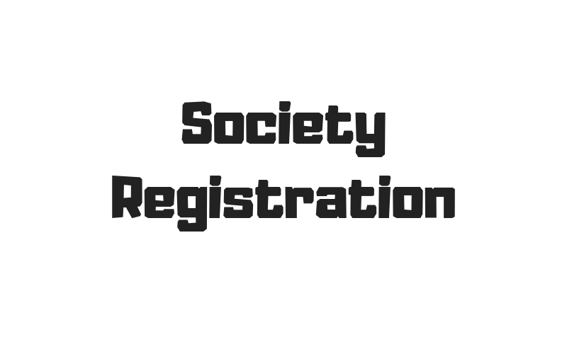 Image of Society Registration Written In A White Background.